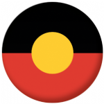Aboriginal Flag 25mm Pin Button Badge